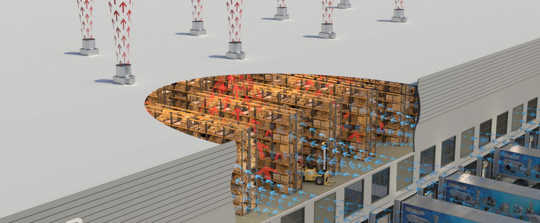 Warehouse Summer Ventilation